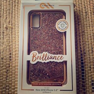 NWT Brilliant Rose Gold CaseMate for IPhone 8 Plus